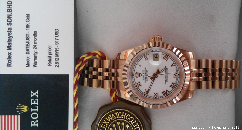Dho Rolex nam nu Malaysia fullbox 1134USD giam con 295USD co anh chup